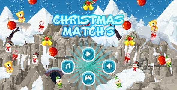 Christmas Match3 - HTML5 Mobile Game AdMob (Capx)