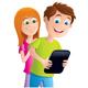 Kids Looking At A Digital Tablet