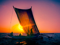 Fishermen Seascape Sunrise Fishing Nautical Concept