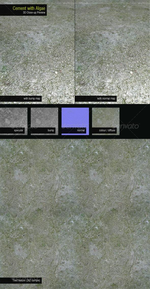 3DOcean Concrete with Algae 164533