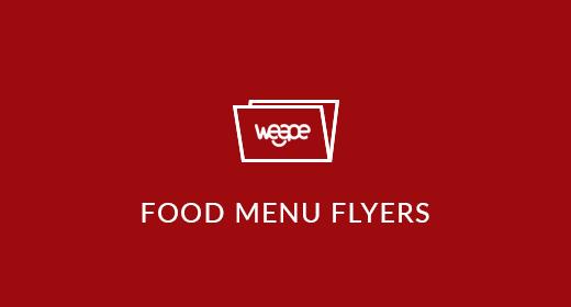 Food Menu Flyers