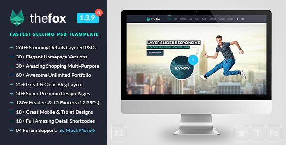 TheFox   Multi-Purpose PSD Template by tranmautritam