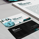 Business Card, Letterhead CD and App Mock-Up