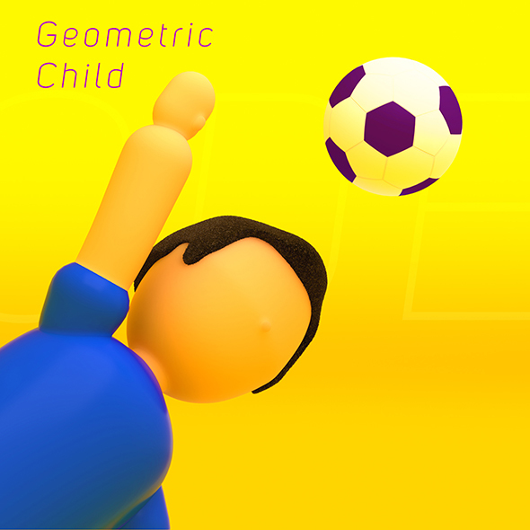 3DOcean Geometric Low Poly Child 13780139