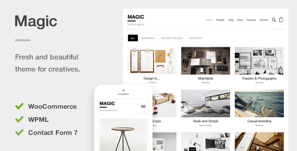 Download Magic - A Creative Portfolio & Ecommerce WordPress Theme nulled download