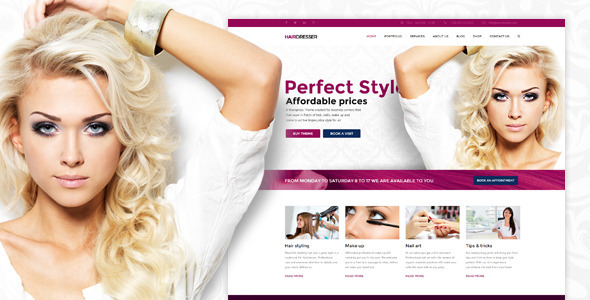 29 - Hairdresser - Hair Salon WordPress theme