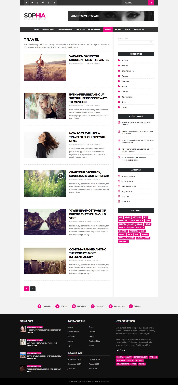item elegant magazine blog wordpress theme