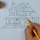 Man Draws Architectural Building