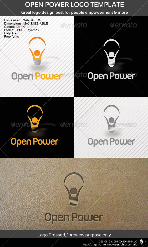 Open Power Logo Template - Abstract Logo Templates