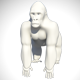 Low Poly Base Mesh Gorilla