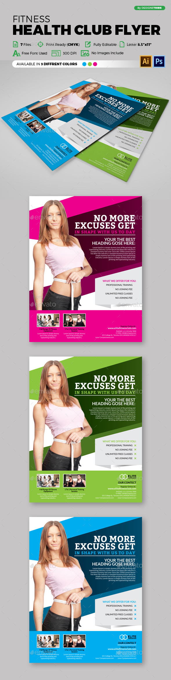 Fitness Health Club Flyer 88