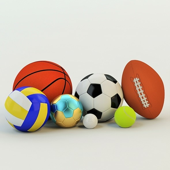 3D Realistic Balls - 3DOcean Item for Sale