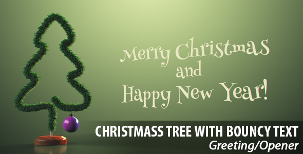 Christmas Tree with Bouncy Text Opener/Greeting