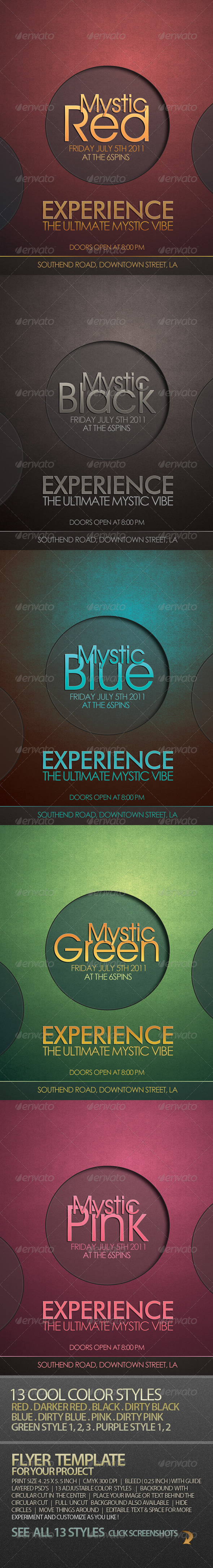 mystic cool flyer template for your project clubs parties events