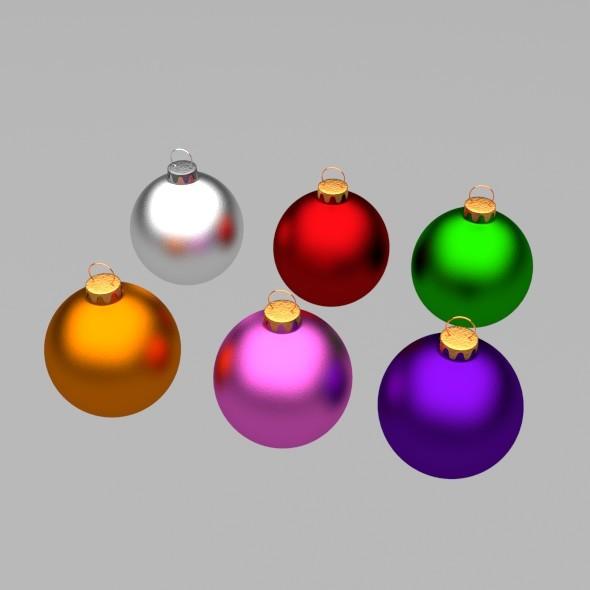 3DOcean Christmas Tree Balls 13795961