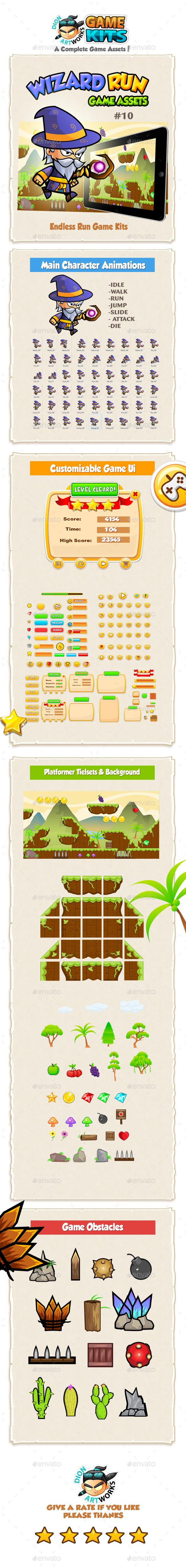 Wizard Run Game Assets 10 (Game Kits)