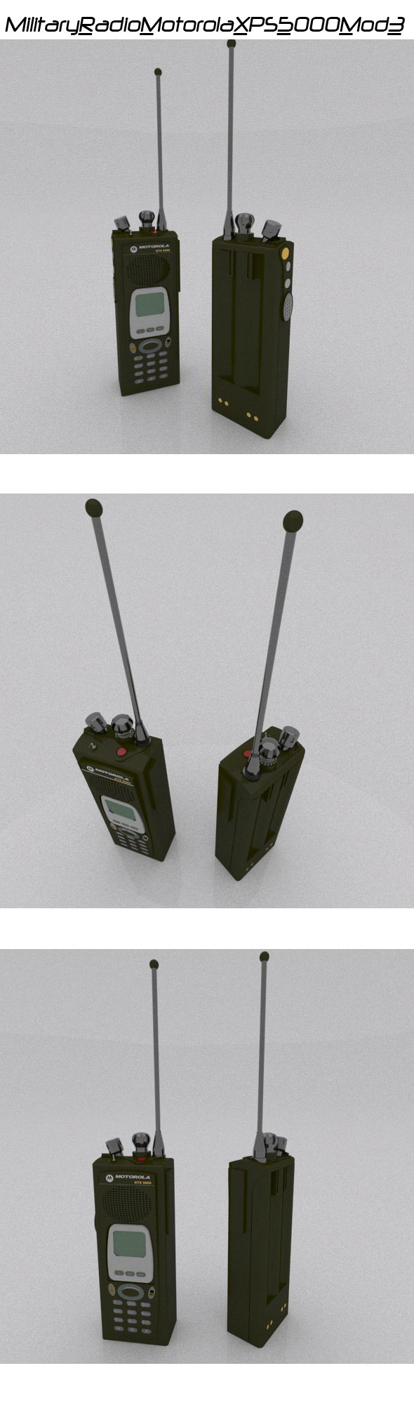 Military Radio Motorola XPS 5000 - 3DOcean Item for Sale