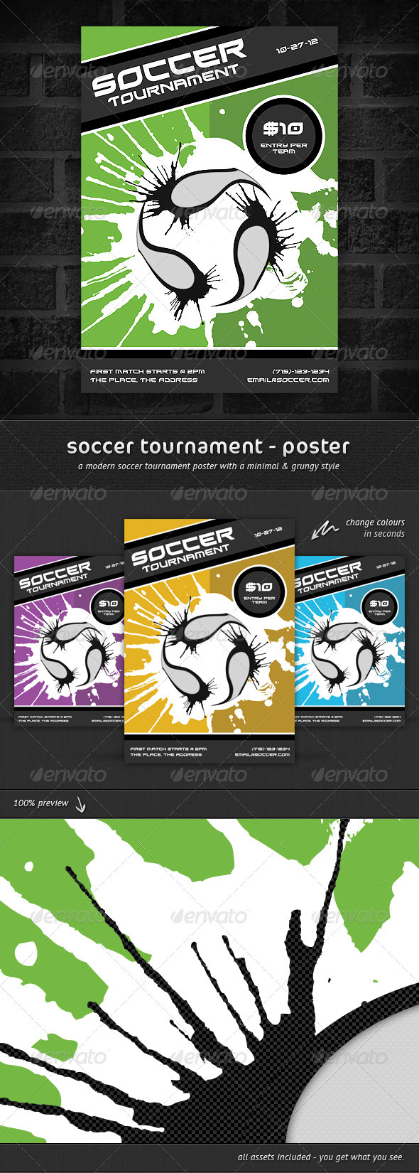 GraphicRiver Soccer Tournament Poster 1363297