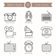 9 Retro Objects Line Icons
