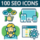 Seo, Marketing And More Icons Set