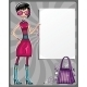 Young fashionable  girl with empty board - GraphicRiver Item for Sale