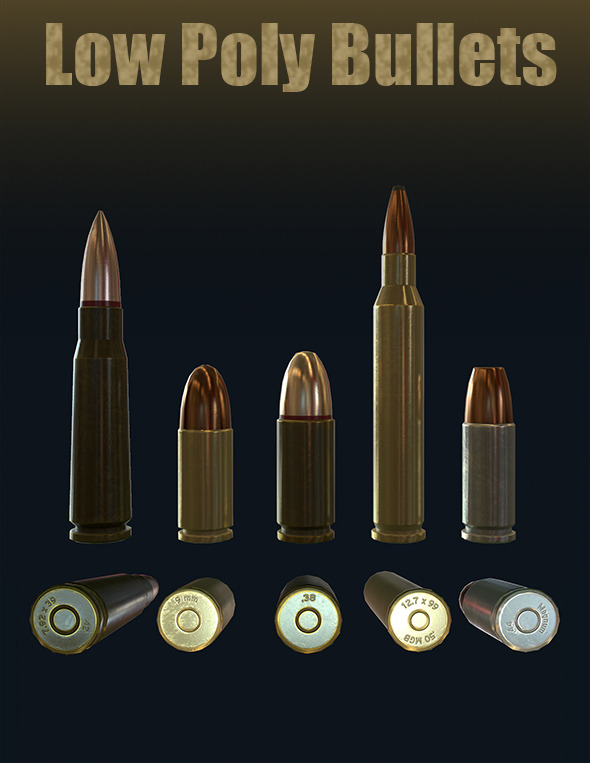 Low-Poly Bullets - 3DOcean Item for Sale
