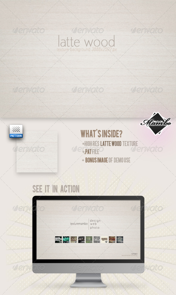GraphicRiver Latte Wood Background Texture 164473