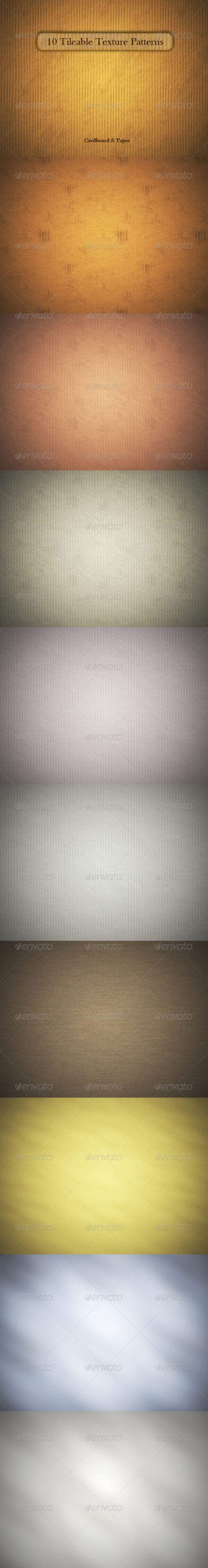 GraphicRiver 10 Tileable Cardboard & Paper Texture Patterns 164811