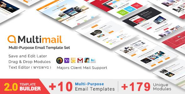Download Multimail - Responsive Email Set + MailBuild Online nulled download