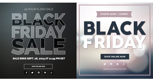 Black Friday Promotional Banners