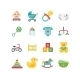 Baby And Child Related Icons, Illustrations