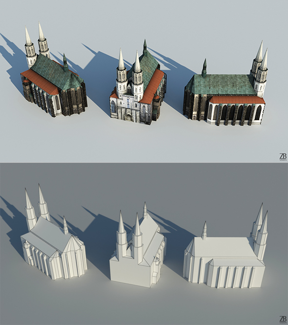 Lowpoly Church - 3DOcean Item for Sale