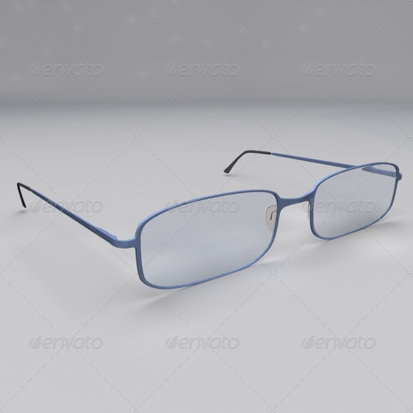 Stylish glasses design - 3DOcean Item for Sale