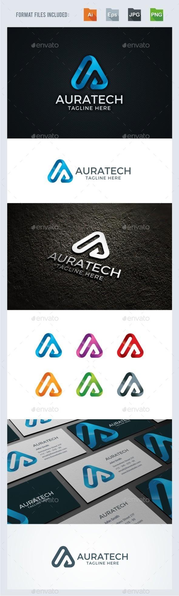 A Letter - Technology Logo Template