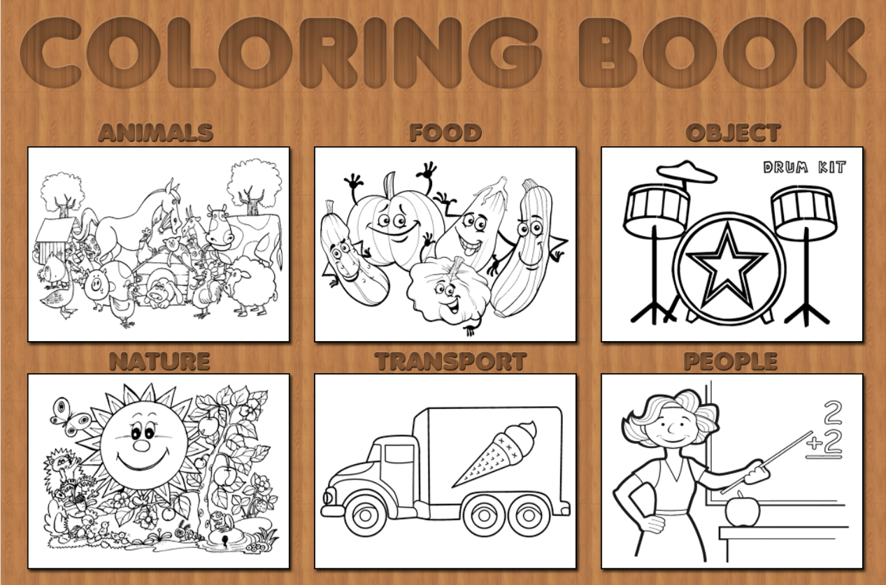 Coloring book html5 - Preview1