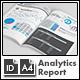 SEO Analytics Report Template - A4 Portrait