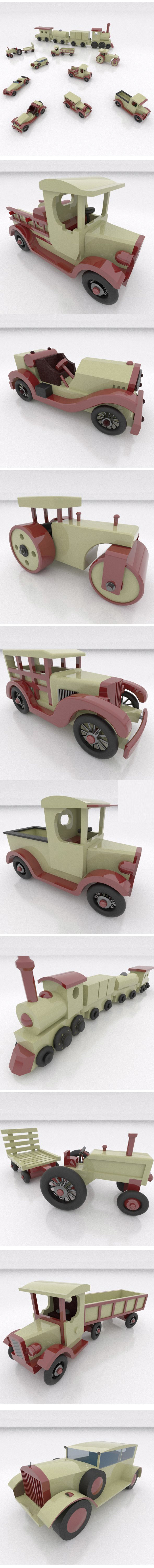 Toy Cars package - 3DOcean Item for Sale
