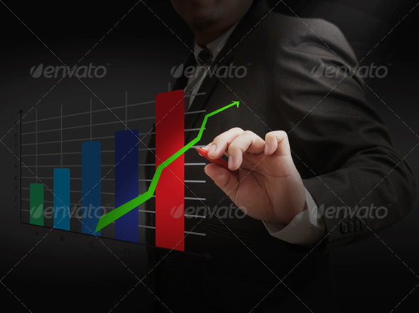 hand draw finance graph - Stock Photo - Images