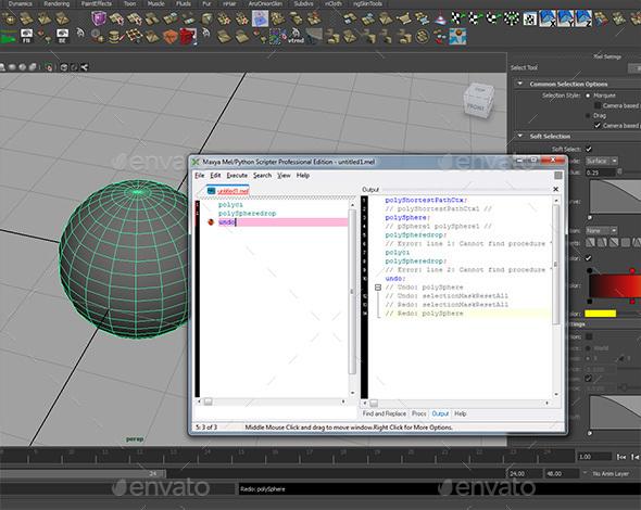 3DOcean Maxya MEL Script Editor for Autodesk Maya 13824609
