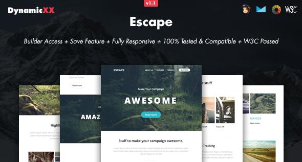 Escape - Responsive Email + Online Builder