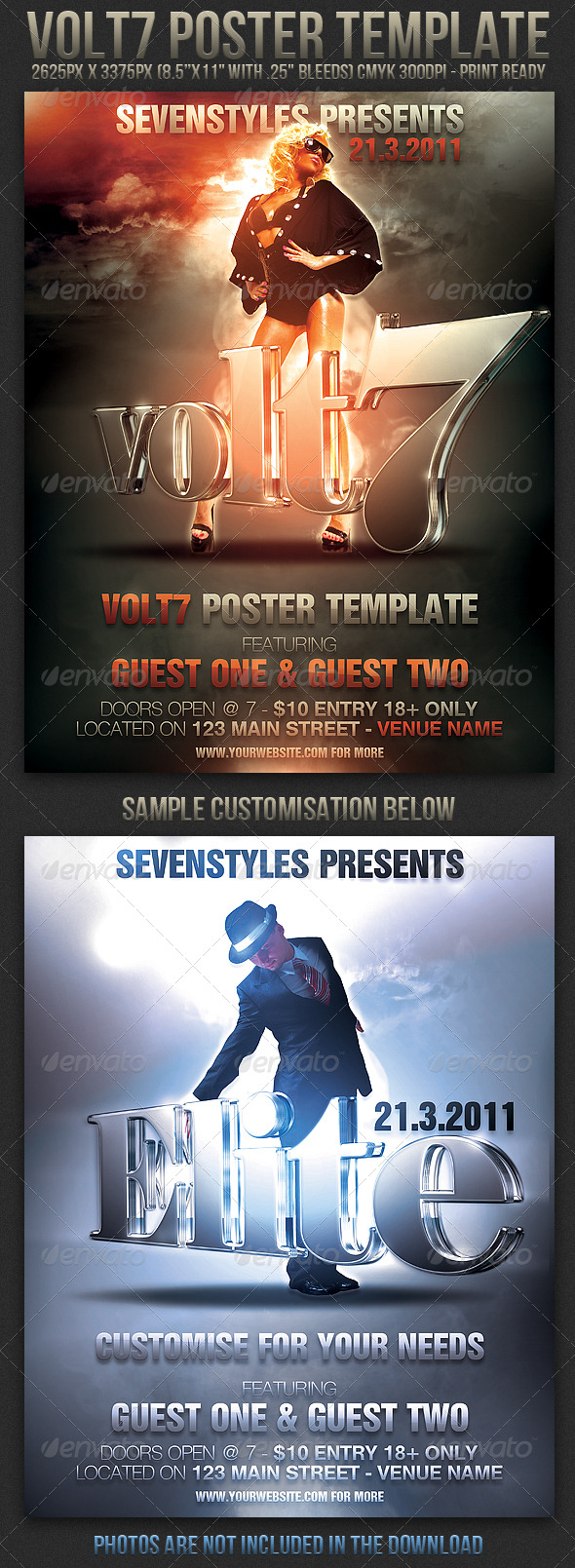 Volt7 Poster/Flyer Template - Clubs & Parties Events