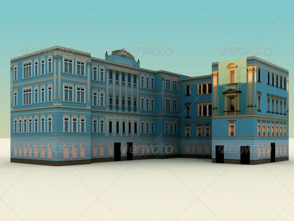 Low Polygon Buildings Vol.1