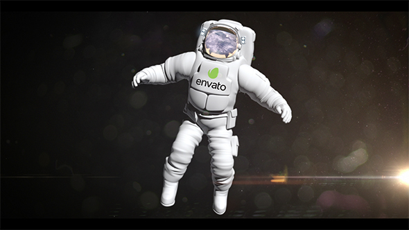 VideoHive Your Logo on the Astronaut 13827759
