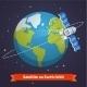 Telecommunication Satellite on the Earth