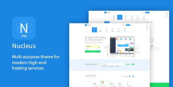 Nucleus – Multi-Purpose Hosting PSD Template (Technology) images