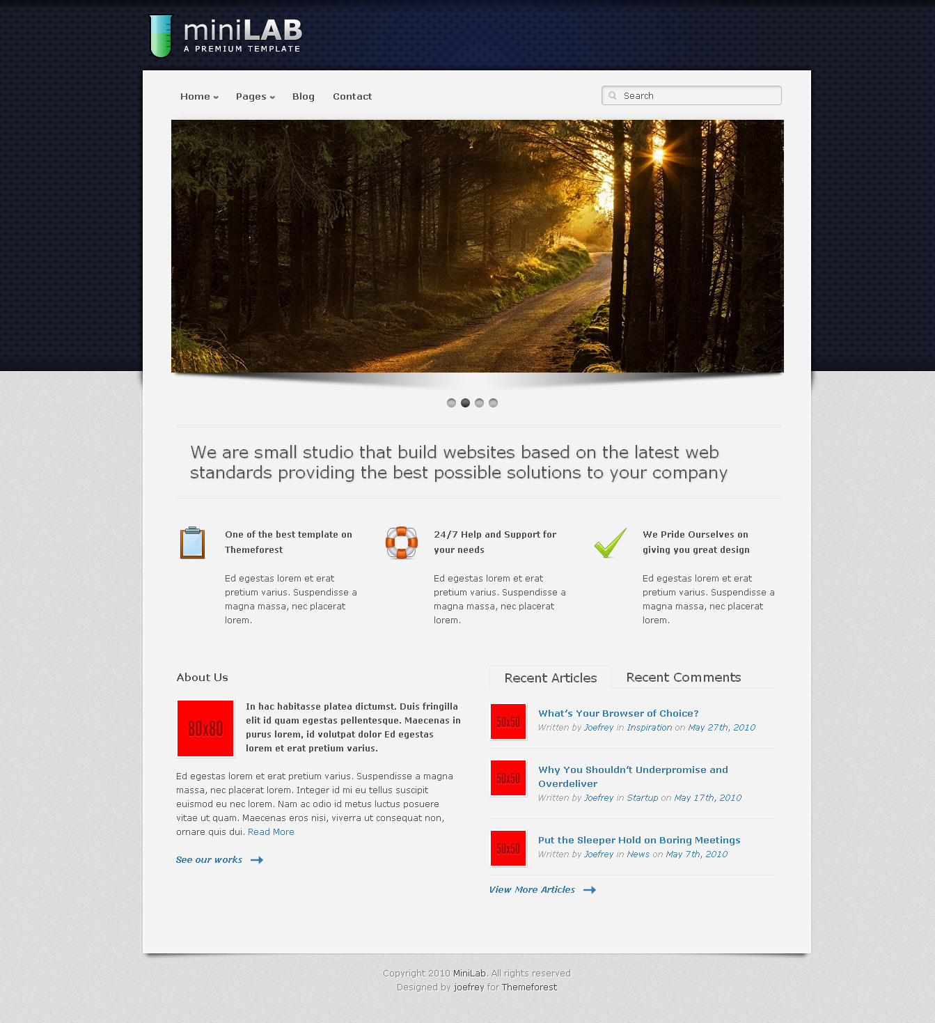 Mini Lab - Premium Wordpress Theme 15 in 1