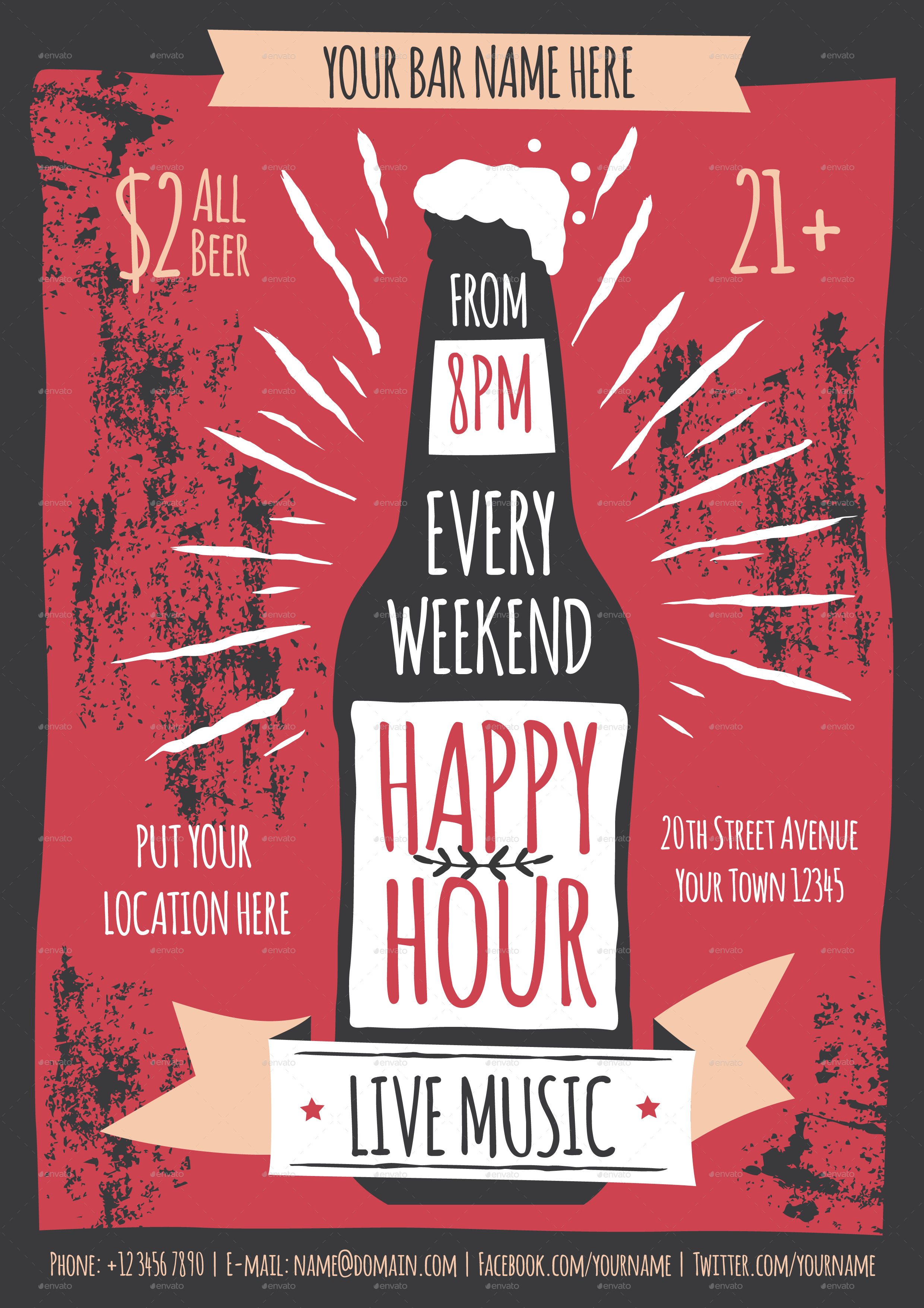 happy hour flyer template by me55enjah graphicriver preview image set happy happy hour jpg