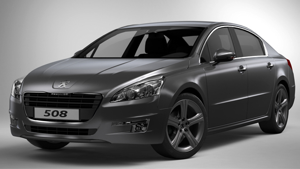 3DOcean Studio Rendering Setup for Peugeot 508 13830332