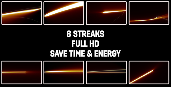[VideoHive 164947] Streak Light Effects | Motion Graphics