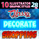 10 Illustrator Graphic Styles Vol.28